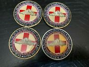 Usaf Mcchord Afb Wa 446 Asts To Comfort And Transport Challenge Coin Lot Of 4