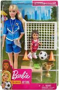 Barbie You Can Be Anything - Soccer Coach Fashion Doll Playset By Mattel, Inc.