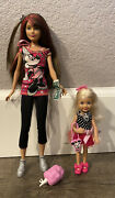 Barbie Loves Disney Skipper And Chelsea Dolls By Mattel Mickey Minnie Mouse