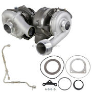 Stigan Turbo W/ Turbocharger Gaskets And Oil Line For Ford Super Duty 2008-10