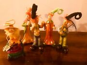 5 Vintage Five Classy And Happy Porcelain Autumn Figurines Halloween Thanksgiving