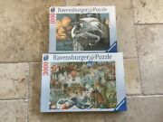Ravensburger Original Quality 1000 Pc Dragon And 3000 Pc Oceania Puzzles New