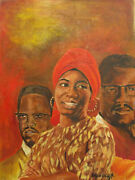 Elijah Clay Jr. African American Imagery Acrylic On Canvas