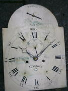 C1790 8day Longcase Grandfather Clock Dial+movement 12x16+1/2 Inch Tho Pace Of