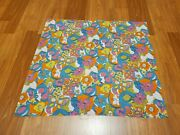 Awesome Rare Vintage Mid Century Retro 70s 60s Pastel Psychedelic Swirl Fabric
