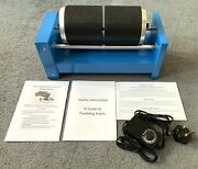 Stone Tumbler 15lb Variable Speed Rotary Rock Tumbler Machine With Dual Barrels