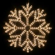 24 In. 40 Point Hanging Snowflake Steady Led Warm White 380 Light Cristmas Decor