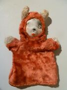 Vintage Very Old Child's Hand Puppet 1950s Collectible Display Prop