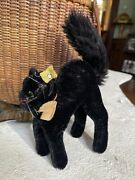 Vintage Steiff Black Cat Halloween,germany, Button, Antique 1950's , Early Peter