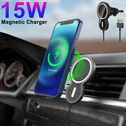 15w Magnetic Wireless Charger Mag Safe Car Vent Mount Fr Iphone 12 Pro Max Mini