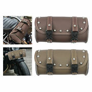 Pu Leather Motorcycle Tool Bag Vintage Pouch Saddle Bags For Most Motorbikes