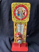 Hickory Dickory Dock Musical Clock Mattel Tin Litho Rare Wind Up Parts Or Repair