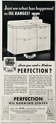 1958 Adxe21perfection Stove Co. Cleveland, Ohio. Perfection Oil Burning Stove
