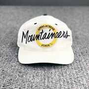 Vintage Appalachian State Hat Mountaineers 90s Script Snapback The Game Asu Nc