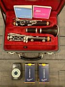 Buffet Crampon R13 Professional Bb Clarinet With 17 Silver Plated Keys...