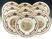 Ivory Lamberton Scammell China Lafayette College 10-3/4 Collector Plates Set 9