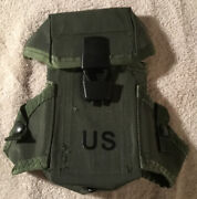 2 Genuine Us Military Pouches Lc-1 Magazine Alice Small Arms Case 30 Round Nos