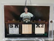 2007 Roberto Clemente Topps Triple Threads Game Used Bat Jerseys Sp /27 Pirates