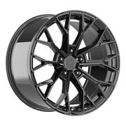 4 Hp3 18 Inch Gloss Black Rims Fits Cadillac Deville Fwd 2000 - 2005