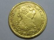 1776 Mexico 1 Escudo Charles Iii Spanish Gold Spain Coin Colonial Very Scarce