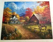 White Mountain 1000 Piece Country Farm Blessings Jigsaw Puzzle Horse Complete