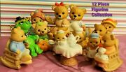 Vintage Homco / Picnic Bears Mixed Collection Of 12 Antique Porcelain Figurines
