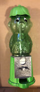 Jolly Green Giant Little Sprout Gumball Candy Machine Dispenser 1996 Clean Rare