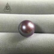 Gorgeous 12-13mm South Sea Round Lavender Loose Pearl Half Drill