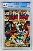 Iron Man 55 Cgc 6.0 White Pages First Thanos Drax Starfox Appearance 1st App