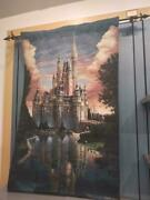 Disney 50th Anniversary Cinderella Castle Tapestry Wall Hanging