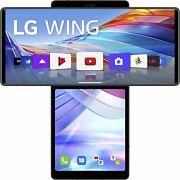 Lot 9 Lg Wing 5g 256gb Gray T-mobile Unlocked 👈 Back Cracked Please Read👈