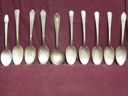 Lot Of 100 Silverplate Vintage Soup Spoons 6 To 7 1/2 Average Arts Crafts A