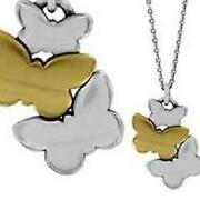 Brighton Butterfly Wonderwing Necklace Silver/gold Nwt