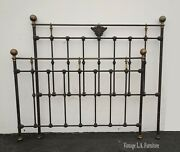Vintage French Country Bed Frame Headboard And Footboard Brass W Finials Norails