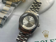 Antique Rolex Movement Cellini 1600 In New 39mm Case With Sapphire Glass