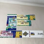 1996 World Series Game 5 + Braves Division League Champ Series Ticket Stubs 2