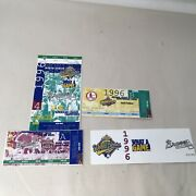 1996 World Series Game 4 + Braves Division League Champ Series Ticket Stubs 3