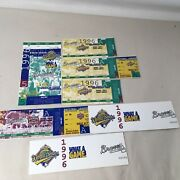 1996 World Series Game 5 + Braves Division League Champ Series Ticket Stubs 4