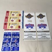 1995 National League Division Champ Series Ticket Stubs Braves World Series Stub