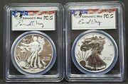 2013-w Pcgs Pr 70 And Ms70 Silver Eagle First Strike West Point 2-coin Set