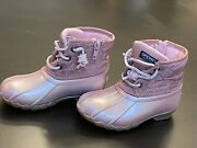 Sperry Top Sider Saltwater Boot - Toddler Little Kid - Blush Color Size 8