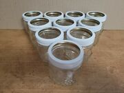 10 Kerr Jars 105 Decorated With Fruit Glass Jam And Jelly Canning 8 Oz W/rings