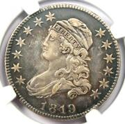 1819 Capped Bust Quarter 25c - Ngc Au Details - Rare Early Date Certified Coin
