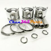 Std Piston Kit And Rod Bearing And Connecting Rod For Kipor Km376 Kde16sta Kde19sta