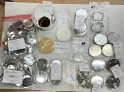 Huge Lot Badge A Minit Blank Parts Button Pinback Making Supplies