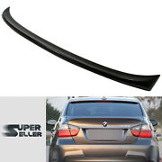 La Stock Unpainted Fit For Bmw 3-series E90 4dr Trunk M-teach Type Spoiler Wing