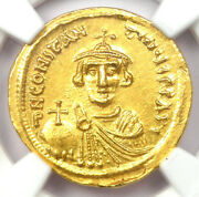 Byzantine Constans Ii Av Solidus Gold Coin 641-668 Ad - Certified Ngc Ms Unc
