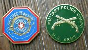 Us Army Cid Military Police Challenge Coin Lot Of 2 Criminal Investigation Mp