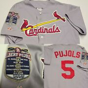 Vintage Limited Edition Albert Pujols St Louis Cardinals Jersey M Gray Majestic