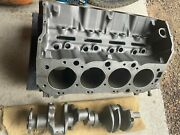 Vintage 1966 396 Chevy Standard Bore Engine Block, Crank, And Rods.